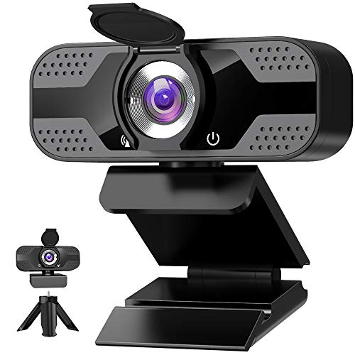 Webcam mit mikrofon 1080P Full HD mit Webcam Abdeckung, USB Webcam mit...
