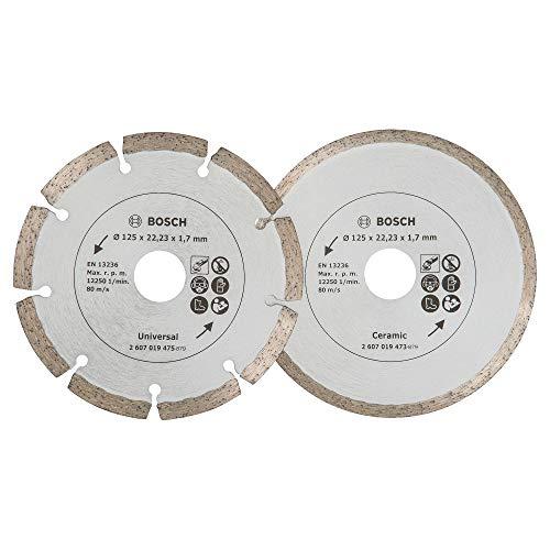 Bosch 2 Stück Diamanttrennscheiben (für Fliesen und Baumaterial, Ø...