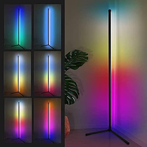 156CM LED Stehlampe Dimmbar mit Fernbedienung für Wohnzimmer, Modern...