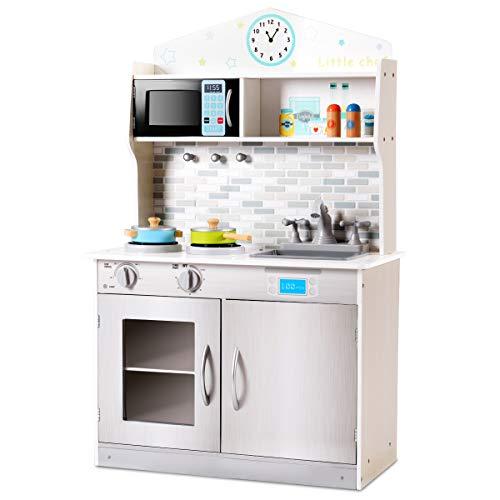 DREAMADE Kinderküche Spielküche, Kinder Holzküche mit Zubehör,...