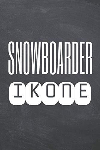 Snowboarder Ikone: Snowboarder Punktraster Notizbuch, Notizheft oder...