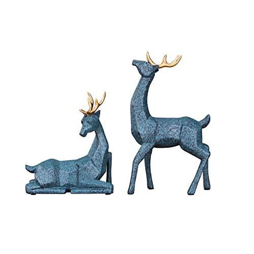 ZLBYB Geometrisch Harz Deer Statue Moderne Hauptdekoration...