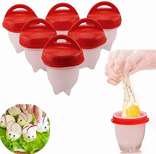 【6 Stück】Eierkocher Silikon, Eierkochern ohne schale easy eggs,...