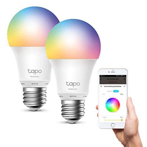 TP-Link Tapo smarthome E27 Glühbirne, alexa glühbirnen, Mehrfarbrige...
