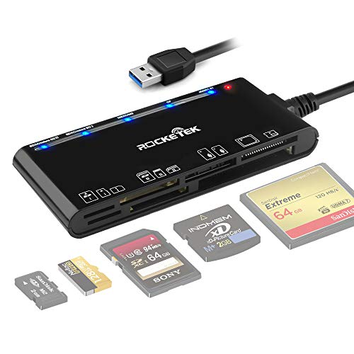 Kartenleser USB 3.0, Rocketek 7-in-1-Speicherkartenleser, USB 3.0 (5...