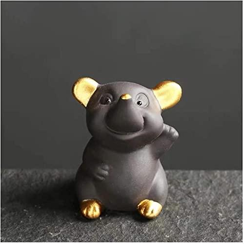 Desktop-Skulptur Lila Sand Tee Haustier Skulptur Kleine Maus Statue...