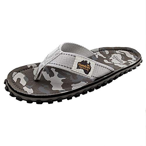 Gumbies - Islander Canvas-Flip-Flops, Grau - grau/camouflage -...