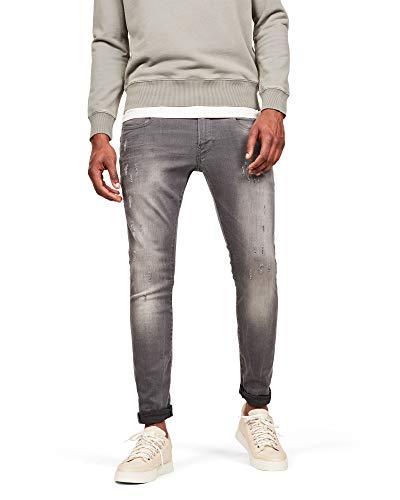 G-STAR RAW Herren Skinny Jeans Revend, Light Aged Destroy 6132-1243,...