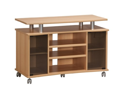 MAJA-Möbel 7362 4831 TV-Rack, Buche-Nachbildung - Alu-Optik,...