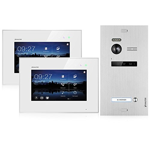 BALTER EVO Video Türsprechanlage ✓ 2 x Touchscreen 7 Zoll Monitor...