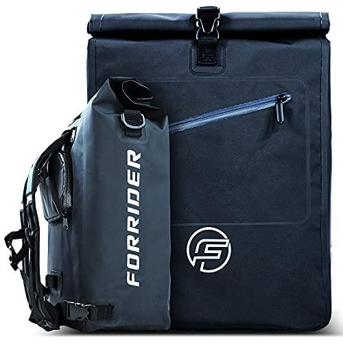 Forrider 3in1 Fahrradtasche für Gepäckträger mit Rucksack...