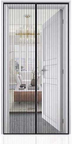 Auxmir Magnet Fliegengitter Tür, Insektenschutz Balkontür 100x210cm,...