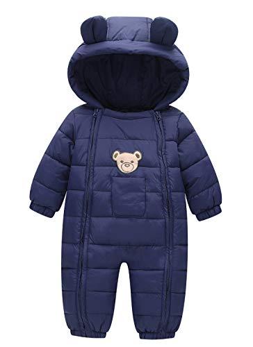 FEOYA Winter Jumpsuit Mantel Mädchen Junge Kapuze Dick Warme...
