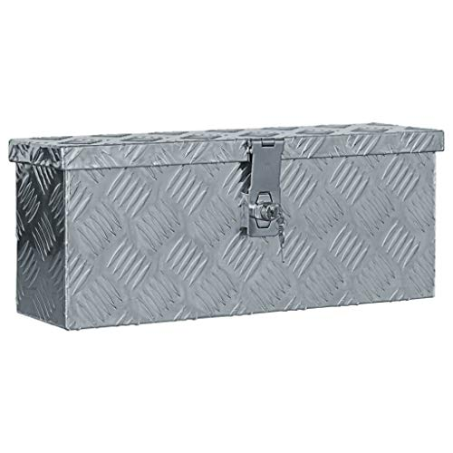 vidaXL Aluminiumkiste Silbern Alubox Aluminiumbox Transportkiste...