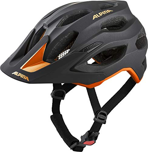 ALPINA Unisex - Erwachsene, CARAPAX 2.0 Fahrradhelm, black-orange,...