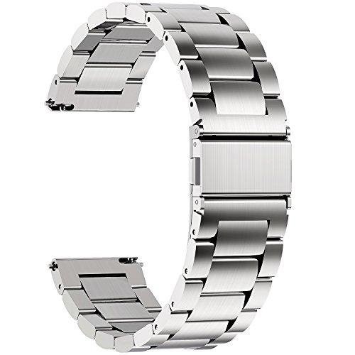 Fullmosa Edelstahlarmband für Uhr,Metall Uhrenarmbänder mit...