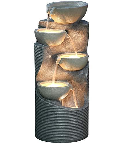 Dehner Gartenbrunnen Salo mit LED Beleuchtung, ca. 81 x 34 x 33 cm,...