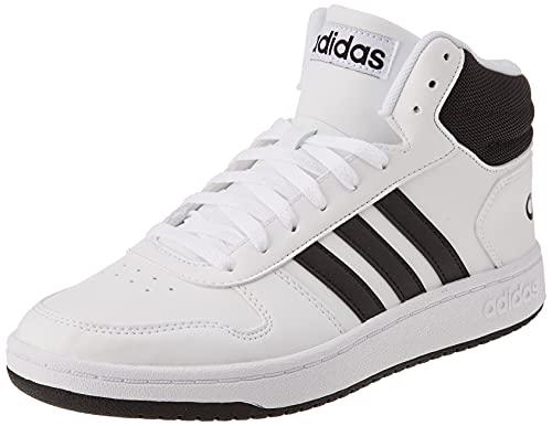 adidas Herren Hoops 2.0 Mid Sneaker, Cloud White/Core Black/Core...