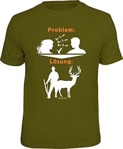 RAHMENLOS Original Geschenk T-Shirt für den Jäger: Problem blabla,...
