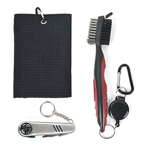 DODUOS Golf Reinigungswerkzeug Kit - Golf Handtuch, Golf Club Bürste,...