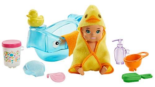 Barbie GHV84 - Skipper Babysitters Inc. Badezeit Spielset, Baby Puppe...
