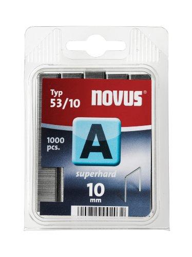 Novus Feindrahtklammern superhart 10 mm, 1000 Tacker-Klammern vom Typ...