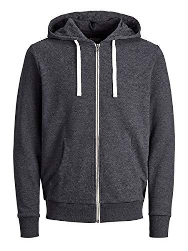 JACK & JONES Male Sweatshirt Bequemer SDark Grey Melange