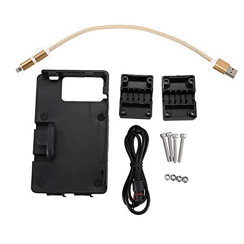 TOOGOO Handy USB Navigations Halterung, Motorrad USB Lade Halterung...