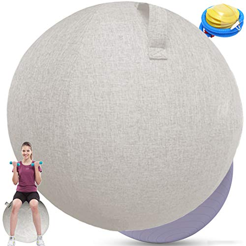 Gymnastikball 65cm Sitzball BüRo Ergonomisch Sitzball StoffKlein...