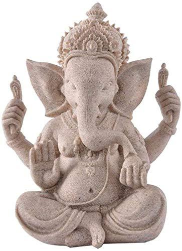 WQQLQX Statue Elefant Skulptur Buddha Statue Ganesha Statue Feng Shui...