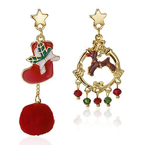 GLGSHOULIAN Weihnachts Ohrringe,Neujahr Weihnachten Ohrringe Frauen...