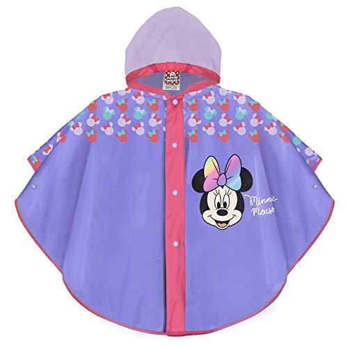 PERLETTI Disney Minnie Mouse Regen Poncho Violett Rosa Pink für...