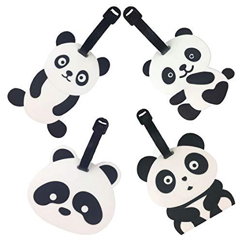 Reisegepäck Tags, Emoji Panda Koffer Reise ID Label Tags Halter, PVC...