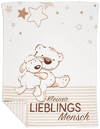 Herding Fynn Babydecke, Lieblingsmensch Motiv, 75 x 100 cm,...