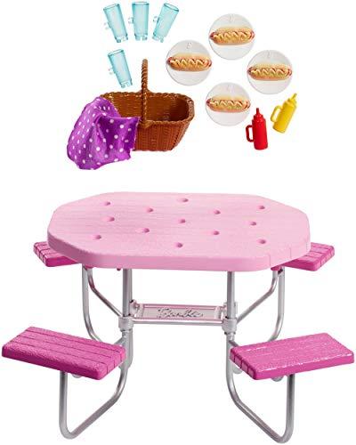 Barbie FXG40 - Möbel Spielset Outdoor Picknicktisch und Picknick...