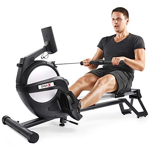 Dripex Rudergerät für Fitness zu Hause, rudermaschine mit...