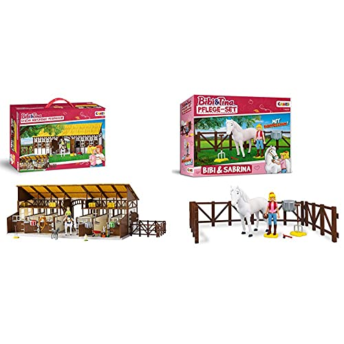 CRAZE Bibi und Tina Bibi & Tina Reiterhof mit Pferden, Spielfiguren...