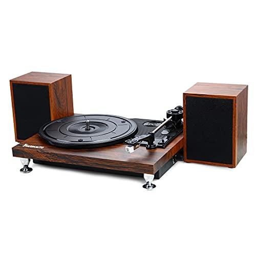 NAVISKAUTO Plattenspieler Schallplattenspieler Bluetooth mit Externe...