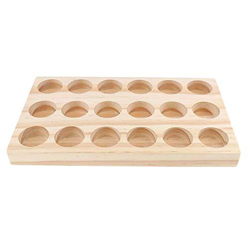 ZQO Tablett für ätherische Öle, 18 Löcher, handgefertigt,...