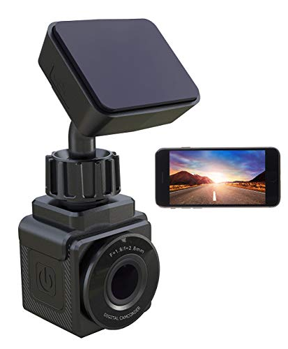 NavGear Mini Dashcam mit Akku: WiFi-Mini-Dashcam, Full HD 1080p,...