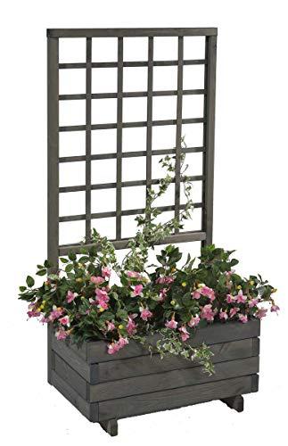 GASPO Blumenkasten mit Rankgitter Hellbrunn | Vintage-grau, aus...