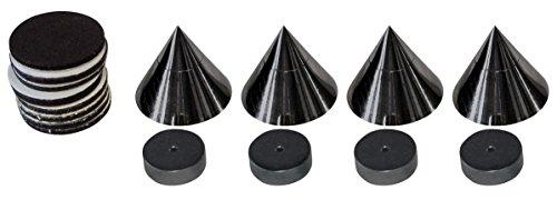 Dynavox Sub-Watt-Absorber 4er Set, höhenverstellbare Entkoppler für...