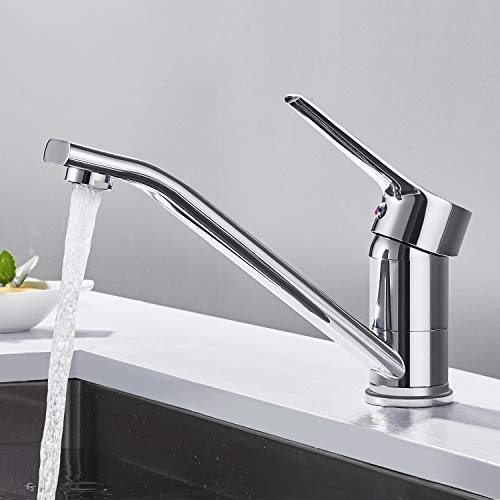 Wasserhahn Küche Hochdruck, WOOHSE Mischbatterie Bad Waschbecken...