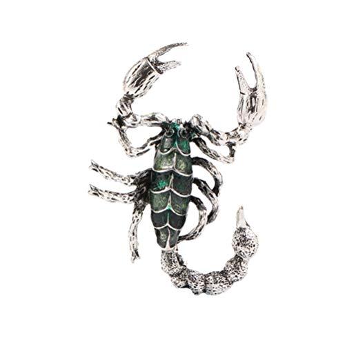 Happyyami Tier Emaille Pin Abzeichen Kristall Strass Skorpion Form...