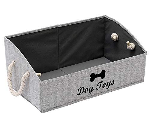 MOREZI Aufbewahrungsbox für Haustierspielzeug aus Segeltuch,faltbare...