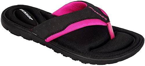Dunlop Damen-Flip-Flops aus Gedächtnisschaum, Badeschuhe für den...
