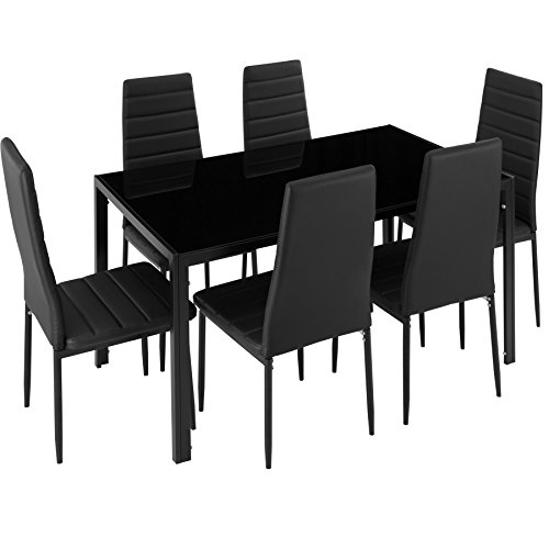 TecTake Esszimmergruppe mit Esstisch und 6 Essstühlen |...