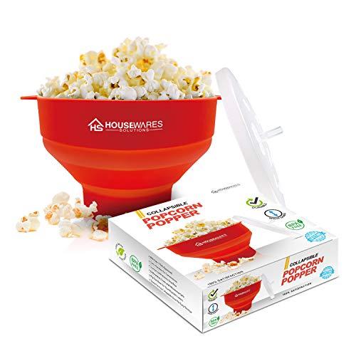Popcornschüssel aus Silikon, zusammenklappbar, für die Mikrowelle...