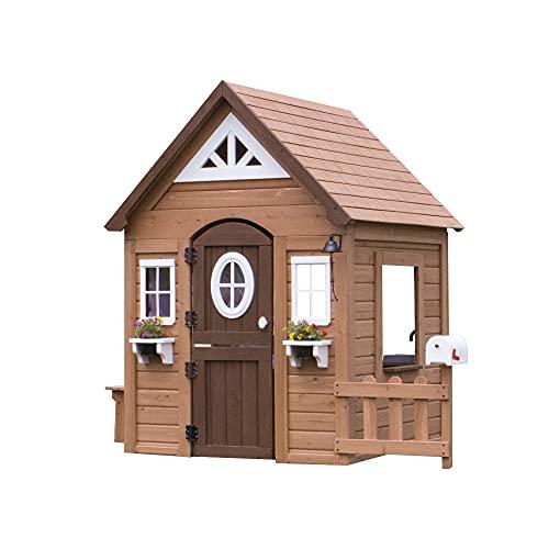 Backyard Discovery Spielhaus Aspen aus Holz   Outdoor Kinderspielhaus...