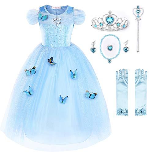 JerrisApparel Aschenputtel Kleid Prinzessin Kostüm Schmetterling...